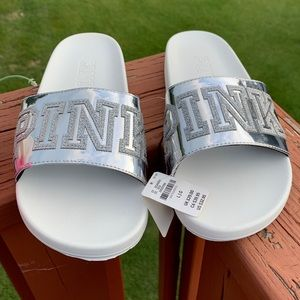 BRAND NEW! VICTORIA'S SECRET PINK BLING SLIDES